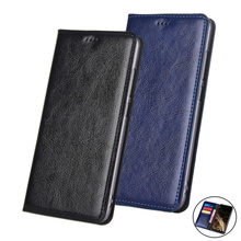 Genuine Leather Wallet Phone Bag Credit Card Slots For Meizu