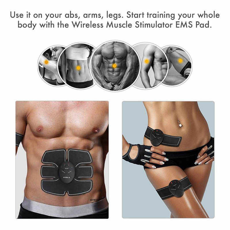 Ems Buikspier Stimulator Hip Trainer Electroestimulador Gespierde Arm Body Afslanken Gewichtsverlies Fitness Stimulator Unisex