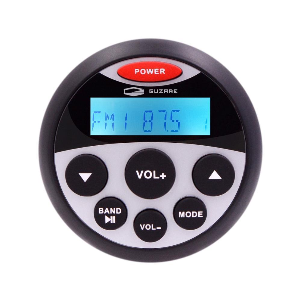 Waterproof Marine Radio Stereo Bluetooth Audio Car MP3 Player Auto Media FM AM Receiver For Motorcycle Yacht Boat Golf UTV ATV