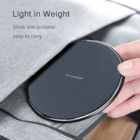 10W Fast Wireless Charger For Samsung Galaxy S10 S9 S8 USB Qi Quick Charge 3.0 Charging Pad for iPhone 11 Pro XS Max XR X 8 Plus|Wireless Chargers| |  -