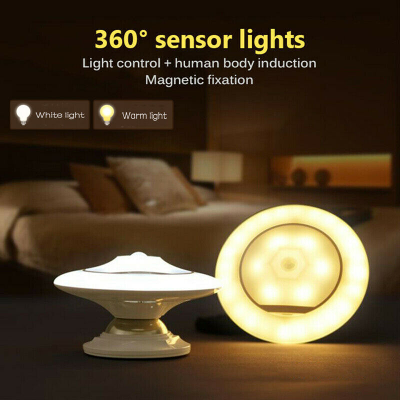 Motion Sensor Nightlight Children 360 Degree Rotating Lamp With Motion Sens GIFT
