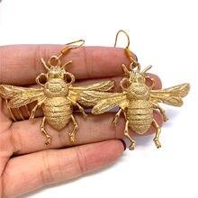 Pendiente con estilo de abeja grande, pendientes de abeja victorianos, Estilo Vintage, regalo para amantes de las abejas, regalo único de San Valentín
