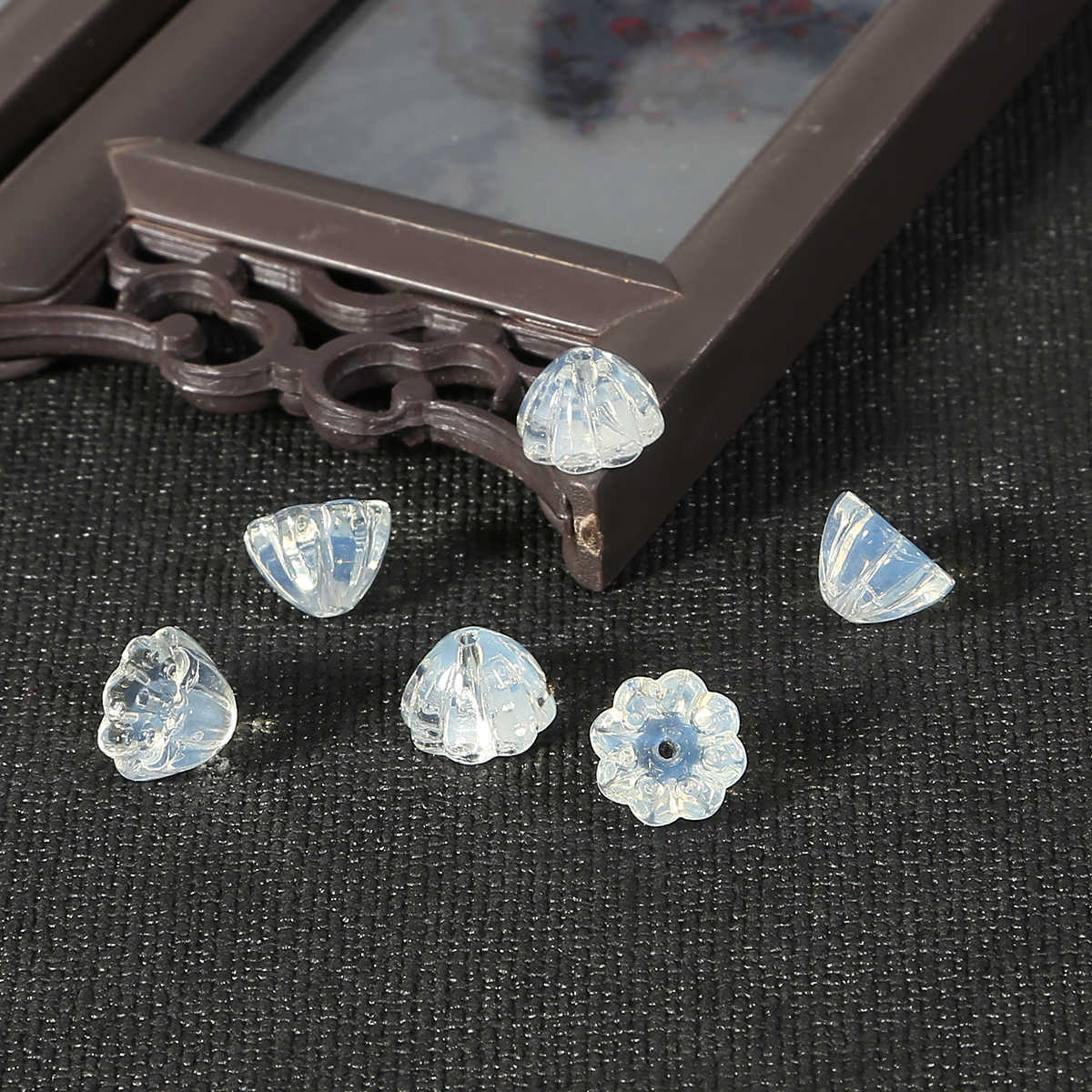 Baru Imitasi Giok Hijau Putih Manik-manik Lotus Pesona Retro Perhiasan Aksesoris untuk Drop Anting-Anting Kalung Liontin Gaya Cina