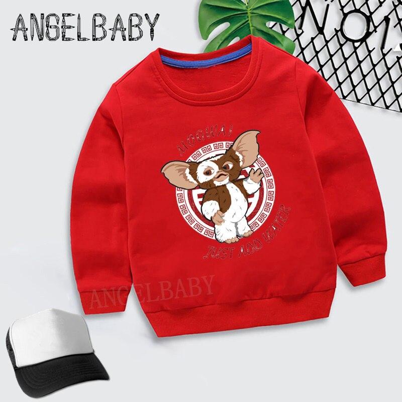 Boys Girls Sweatshirt Kids Gremlins Gizmo Cartoon Cartoon Hoodies Children Autumn Tops Baby Cotton Clothes,KYT5170