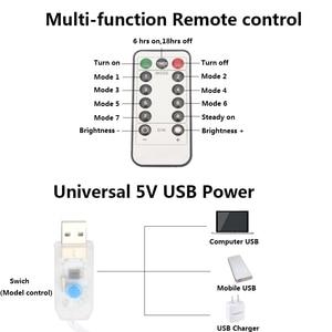 Image 4 - 3M LED USB الطاقة التحكم عن بعد الستار الجنية أضواء عيد الميلاد الطوق أضواء LED سلسلة أضواء حزب حديقة المنزل الزفاف ديكور