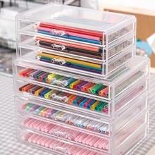 Multifunctional Desktop Organizer Pen Washi Tape Holder Makeup Storage Box School Office Accessories Stationery