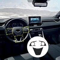 3Pcs Chrome Trim Lünette Auto Matt Lenkrad Abdeckung Für Toyota RAV4 2019 2020 Zubehör