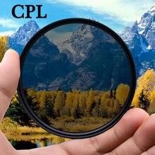 Поляризационный фильтр KnightX CPL для Canon, Nikon 500d, d80, аксессуары для фотографии, d5300, 49 мм, 52 мм, 55 мм, 58 мм, 62 мм, 67 мм, 72 мм, 77 мм