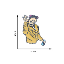 20pcs/lot Classic Salting Action Enamel Pins Breaking Bad Brooches for Boys Girls Hat/bag Denim Jacket Oil Drop Badge D132