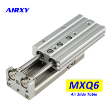 цена MXQ air slide cylinder MXQ6/6L MXQ6-30A MXQ6-30AS MXQ6L-30AT MXQ6-30C MXQ6L-30CS MXQ6-30CT smc linear guide rail pneumatic slide онлайн в 2017 году