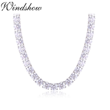 Chain Necklace Tennis 925-Sterling-Silver Jewelry Collares Stones Ketting Women Zirconia