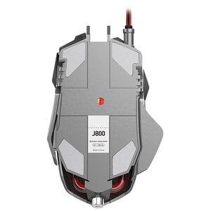 Image 4 - RGB metalowa mysz Gamer podświetlana mechaniczna przewodowa mysz 7 klawiszy 6400DPI regulowana definicja mysz do gier Gamer na PC Laptop