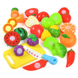 Toy House Food-Toy Educational-Toys Vegetable Cut Fruit Play Plastic Kitchen Baby Kids