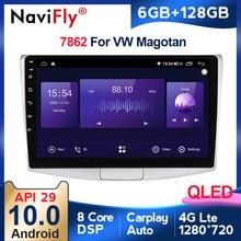 6G + 128G Carplay Android 10 4G Car Radio Multimedia For Volkswagen VW Passat B6 B7 CC Magotan 2011-2015 WIFI bluetooth FM DVD