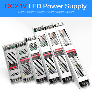 Image 3 - Ultra ince LED güç kaynağı DC 12V 24V aydınlatma Transformers 60W 100W 150W 200W 300W 400W AC190 240V sürücü LED şeritler
