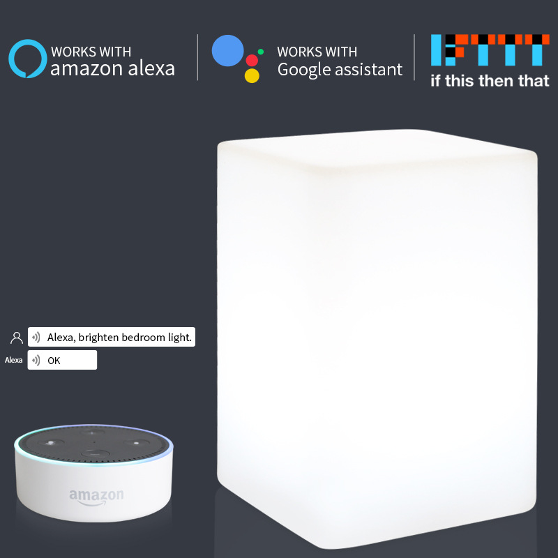 Colorful Children Lamp Ambient Night Light Touch Control RGB Phone App Control For Alexa Google Home IFTTT Voice Christmas Gift
