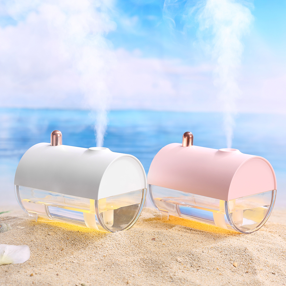 250ML Car HumidifierPortable Air Humidifier LED Night Light USB  Submarine Boat Shape Desktop Purifier For Home Office