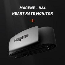 جهاز كمبيوتر للركض للدراجة من Magene موديل جديد H64 Bluetooth4.0 ANT + مستشعر معدل ضربات القلب متوافق مع GARMIN Bryton IGPSPORT