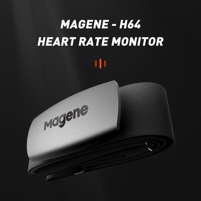Magene新モデルH64 Bluetooth4.0 ant + 心拍数センサー互換ガーミンbryton igpsport実行しているコンピュータバイクモニター