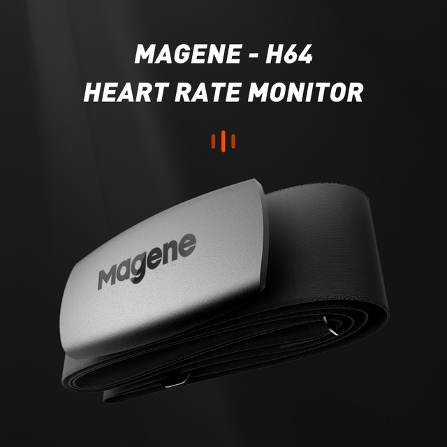 Magene Nuevo Modelo H64, con Bluetooth 4,0 y Sensor de ritmo cardíaco ANT +, Compatible con GARMIN, e IGPSPORT Bryton, ordenador para correr y bicicleta