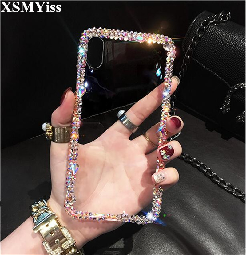 Phone <font><b>Case</b></font> Bling Crystal Diamond <font><b>Rhinestone</b></font> 3D Stones Soft Back Cover For <font><b>Huawei</b></font> P8 P9 P10 P20 P30 PLUS LiTE Mate 10 <font><b>20</b></font> <font><b>Pro</b></font> Lite image