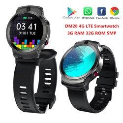 DM28 Smart Uhr Männer 4G LTE SIM Karte Smartwatch Android 7,1 OS 8MP Kamera 1280 MAh GPS Fitness Runde 1.6 ''Touchscreen Armband