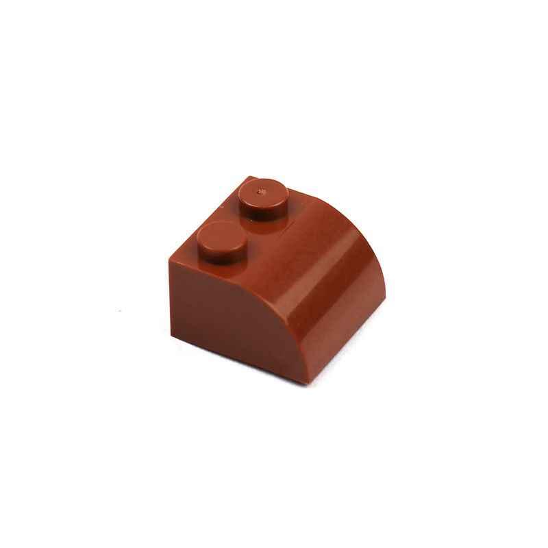 100 шт./лот Строительные блоки Кирпич 2x2 изогнутый дугой формы блоки наборы аксессуаров совместимый с лего WW2 Военная армейская серия