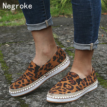 Brand Women Flats Shoes Slip On Casual Ladies Lazy Loafers Sexy Leopard Espadrilles Shoes Woman Moccasins Zapatos Mujer 2019 цена в Москве и Питере
