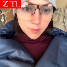 ZT PUNK Women Rimless Sunglasses Oversize Men Gradient Sun Glasses Brand Designer Gothic
