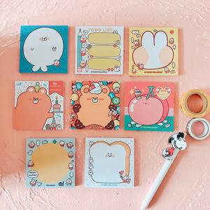 50 Sheets Rainbow Rabbit Memo Pad Student Notebook Stationery Plan Paper Super Many Styles Notebook Office & School Supplies