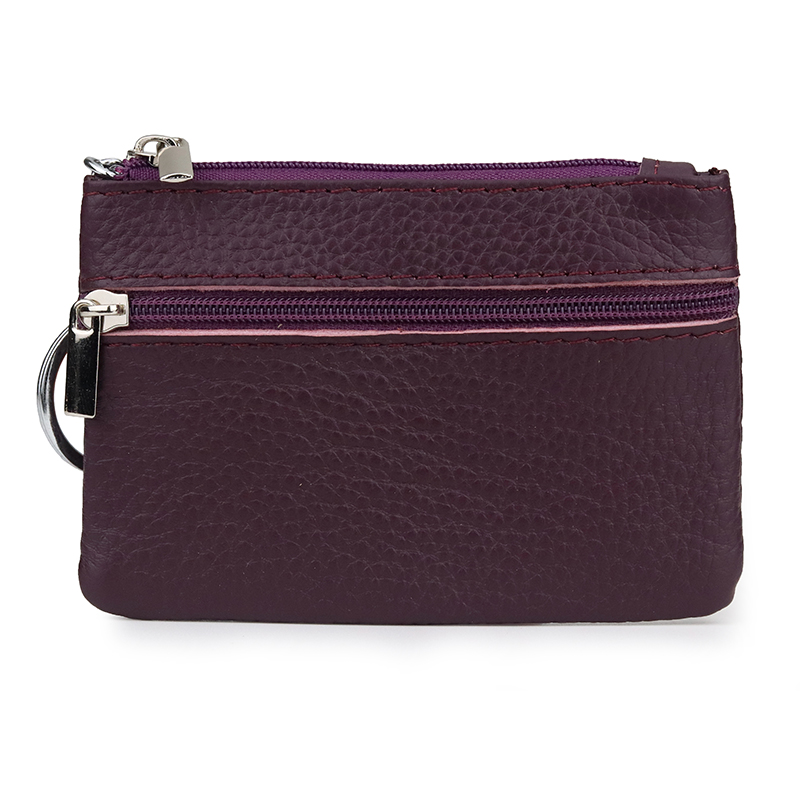 Premium 100% Cowhide Leather Key Wallet New Arrivals Fashion Style Housekeeper Multi-function Women Key Bag  Factory Price Sales