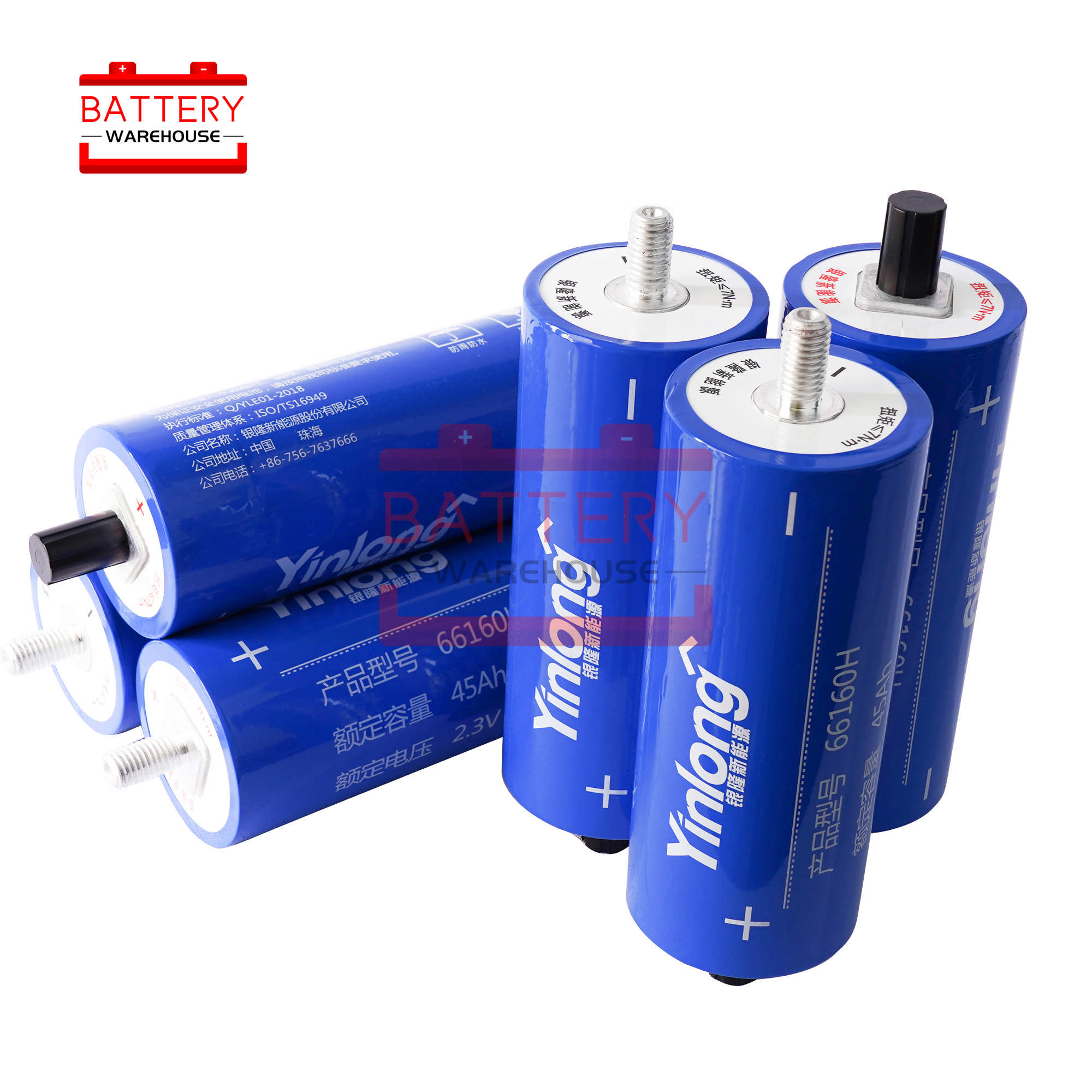 2.3v 45Ah LTO <font><b>66160</b></font> Lithium Titanate Battery Cell new 2.4v 66160H 10C 450A for Diy Pack 12v 14.4v Power Long Cycle Life Stocks image