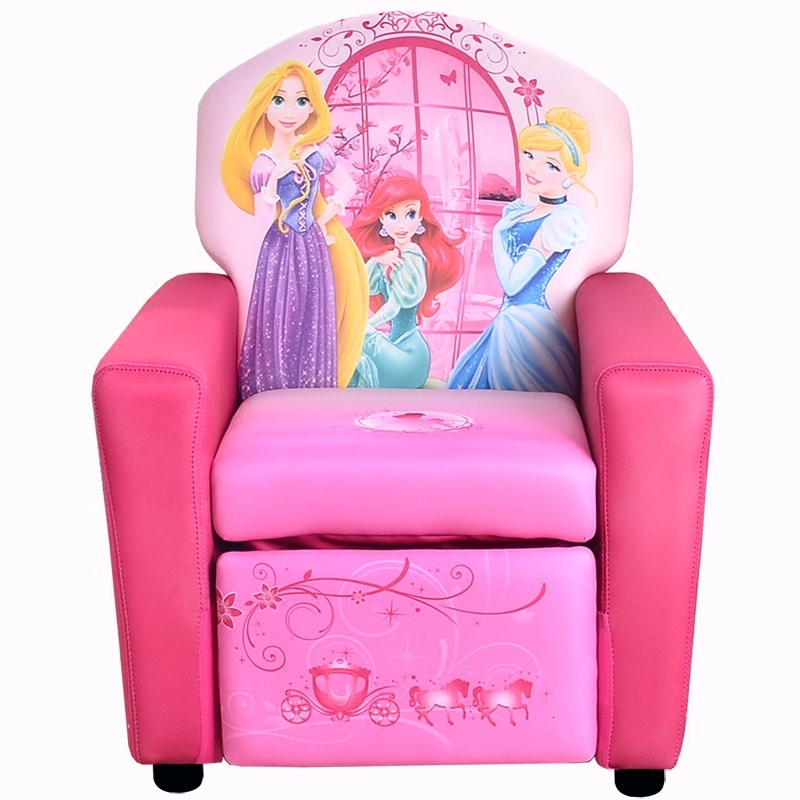 Girl Pink Single Person Baby Mini Small Sofa Lovely Princess Function Kids Sofa Chair Bean Bag Zitzak Children Bedroom