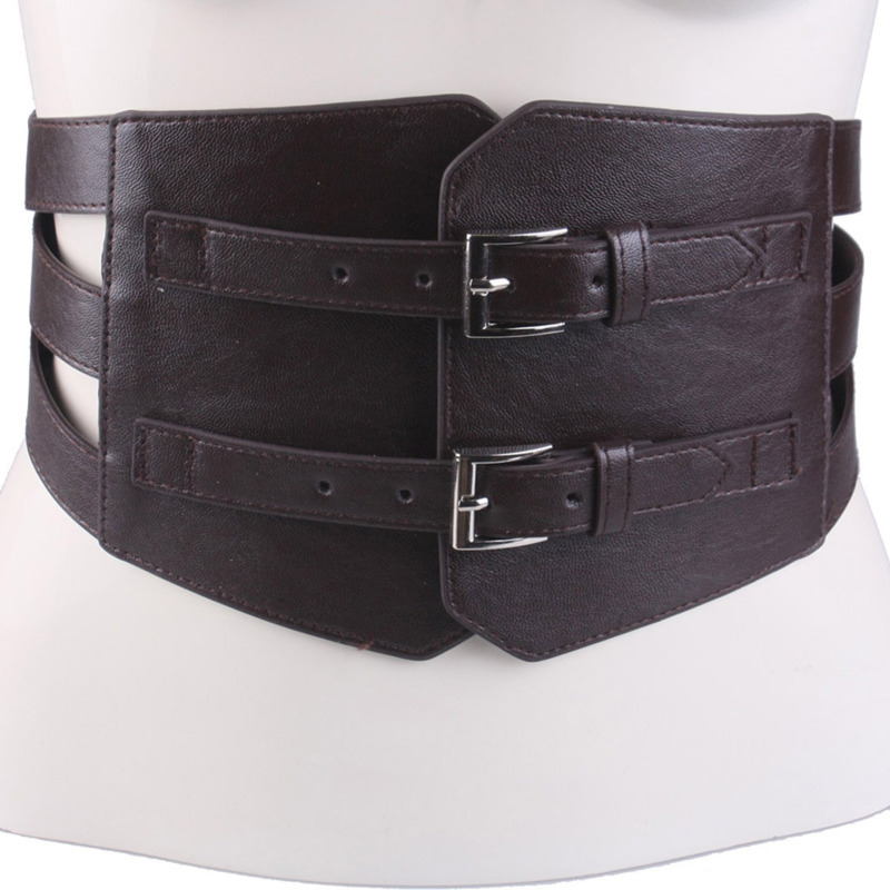 2020 Spring New Design PU Leather Belt Tide Waistband Fashion Belts For Women Solid Corset Belt Stylish Wide Belt Female ZK486