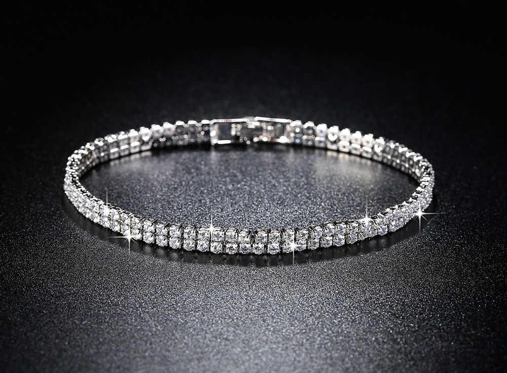 2mm ręcznie 19cm łańcuch 925 srebro bransoletka bangle dla kobiet prezent na rocznicę biżuteria S5438