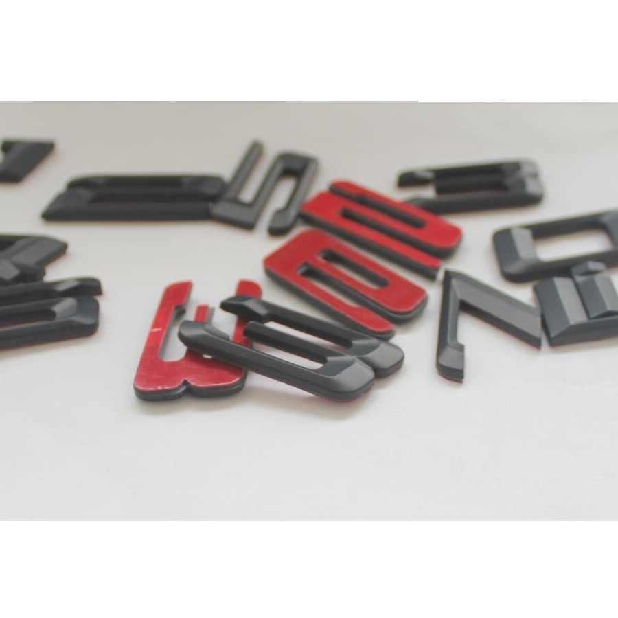 Qwldmj Letras n/úmeros Emblema 316i 318i 320i 325i 330i 335i 310Li 318Li 328Li 330Li 335Li para BMW 2008-2017 Car Styling Trunk Sticker