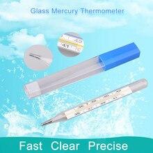 Mercury-Thermometer 1pc Screen Health-Care-Product Body-Temperature-Measurement-Device