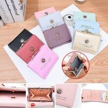 HEFLASHOR женский короткий маленький кошелек на застежке, мини сумочка для денег, кошелек с розами, тройной кожаный кошелек, держатели для кредитных карт
