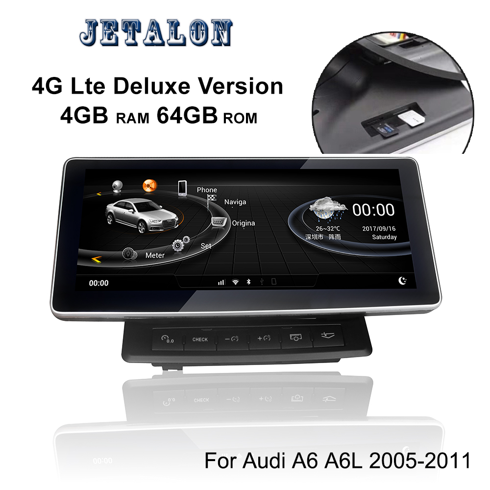 4G Deluxe Version 4+64G <font><b>Android</b></font> 9.0 Car GPS For <font><b>Audi</b></font> <font><b>A6</b></font> A6L 2005-2011 <font><b>10.25</b></font>