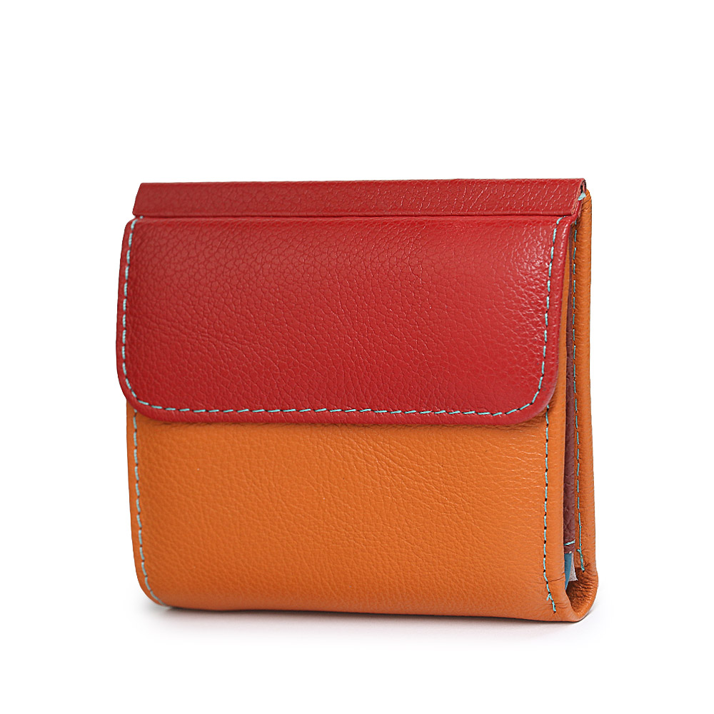 Mini Women's Wallets Luxury Short Genuine Leather Female Purses Small Ladies Purse ID Card Holder Women Colorful Money Bags