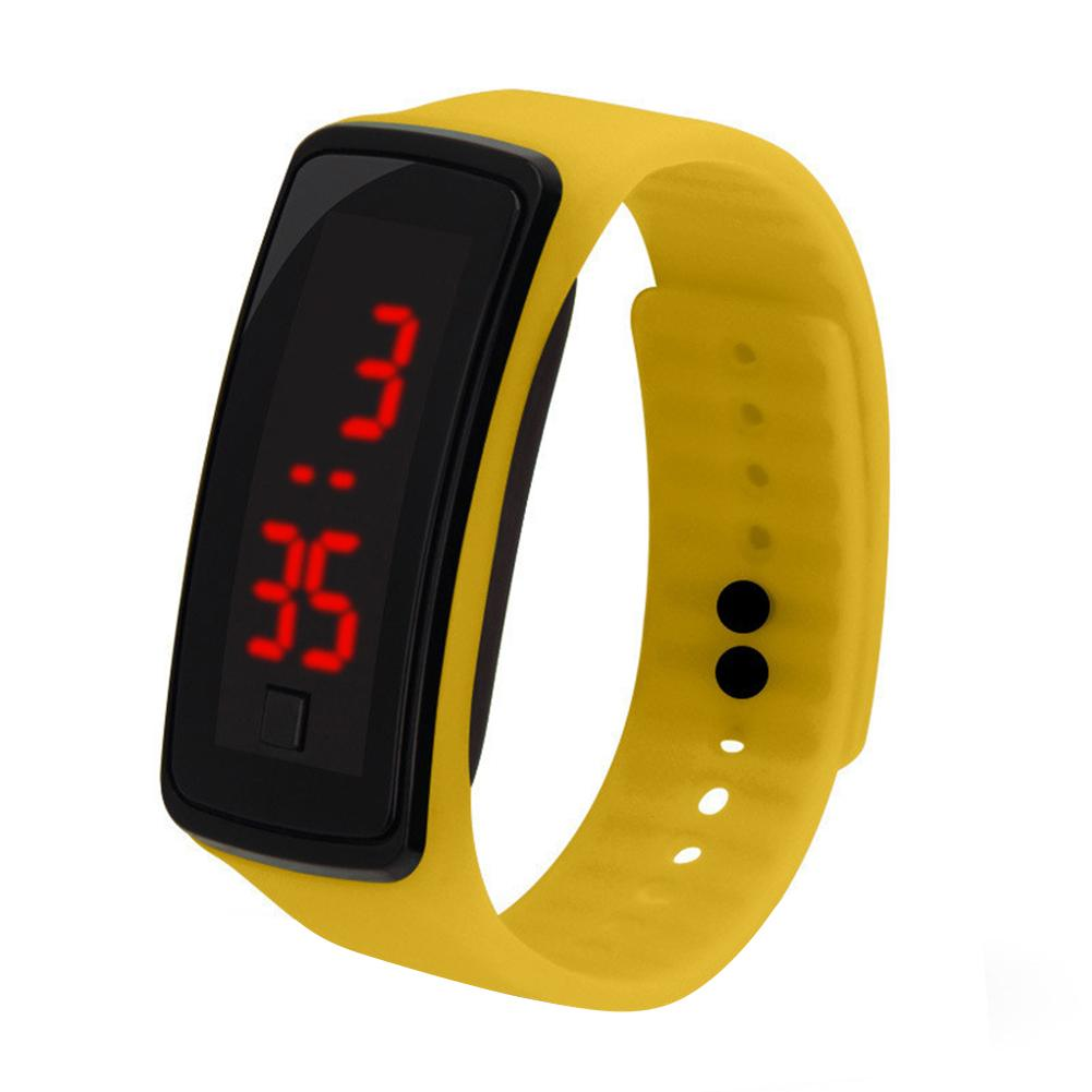 Sports Wristband Watch LED Children's Electronic Digital Wrist Watches Fashion Men Military Kids Clock Student Hour Gift