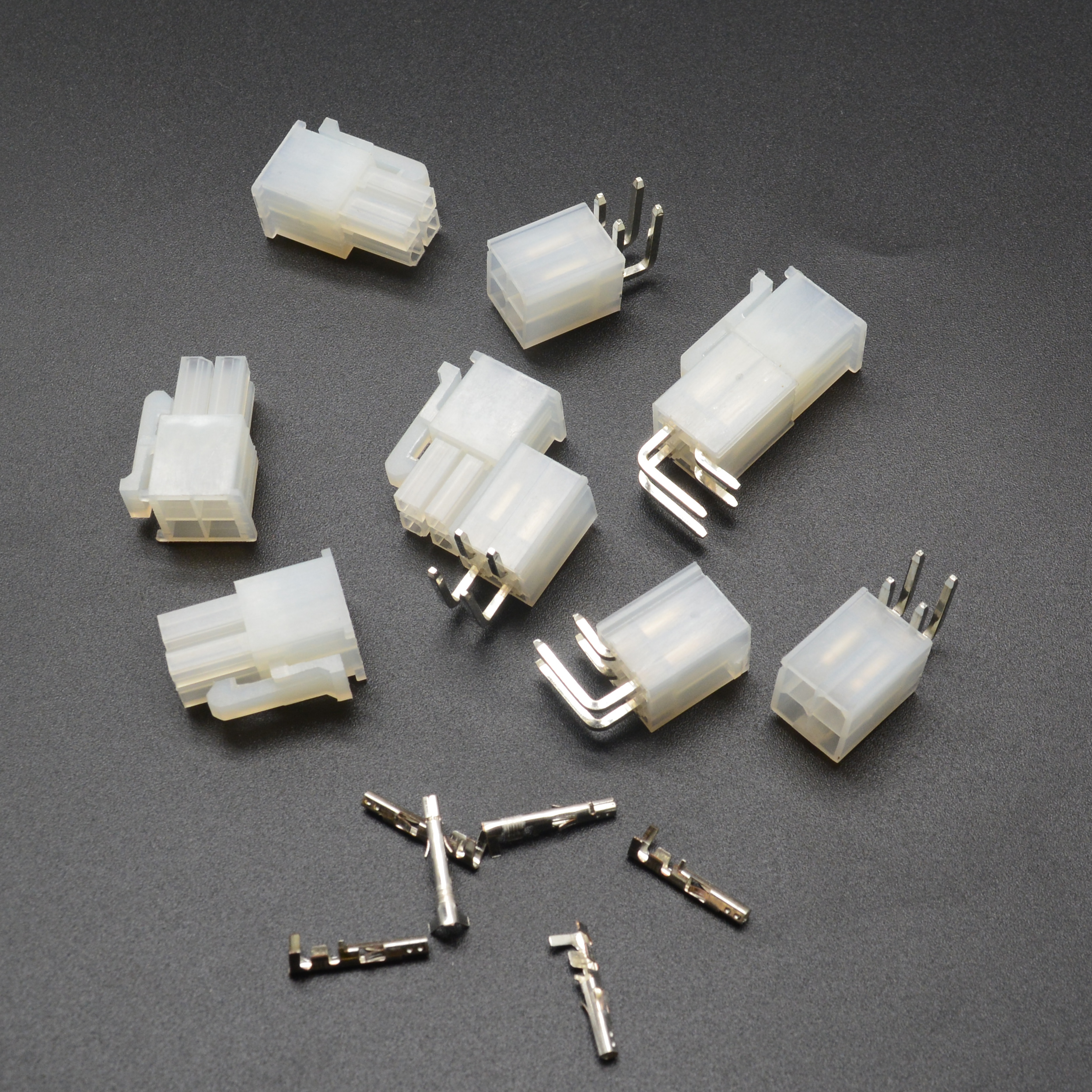 50 sets 4 Pin/way <font><b>4.2mm</b></font> Curved needle <font><b>5557</b></font>&5569 wire terminals electrical connector plug for PCB/CPU/car/motorcycle image