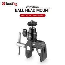 SmallRig DSLR kamera süper kelepçe tutucu w/topu kafa montaj sıcak ayakkabı adaptörü için Gopro, kamera ışığı, monitör eki 1124
