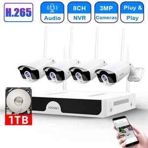 Image 1 - H.265 8CH NVR 3MP كاميرا لاسلكية طقم NVR واي فاي نظام الأمن 3MP الصوت الصوت في الهواء الطلق CCTV IP كاميرا P2P مجموعة مراقبة الفيديو