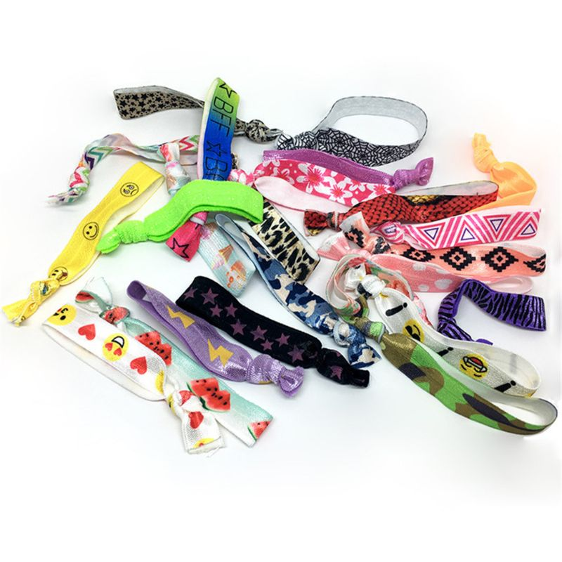 12pcs Multicolor Wristbands Bracelets Ribbon Bag Ties Party Supplies Favors Campaign Toys Adult Kids