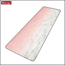 Pink mouse pad xxl gamer shiny rose gold white marble large