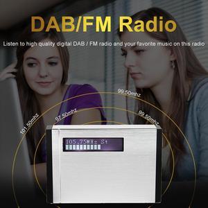 Image 4 - TIVDIO T 101 DAB FM Stereo Radio Pocket Receiver Mini Portable Clock Digital DAB+ RDS Radio Receiver Music Player Earphone F9204