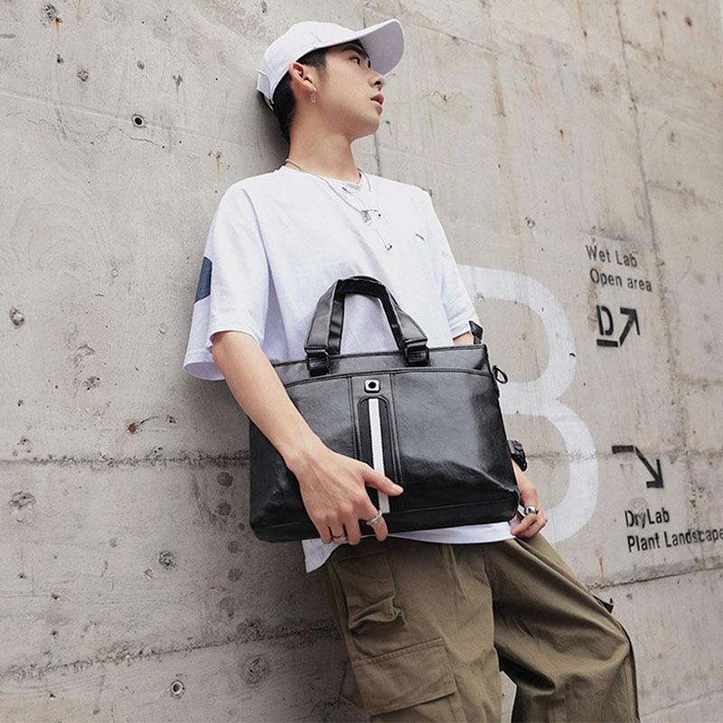 Hand-Bag Men's Bags Business Briefcase OL Computer Shoulder Bags Laptop Large Capacity Male Bolsa Satchels Businessman Multiple