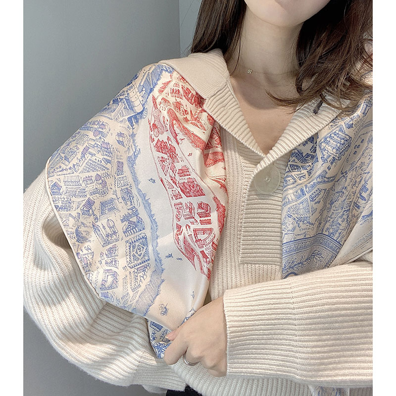 6 Colors 100% Silk Scarf Shawl For Women Ladies Fashion Spring Scarves Foulard