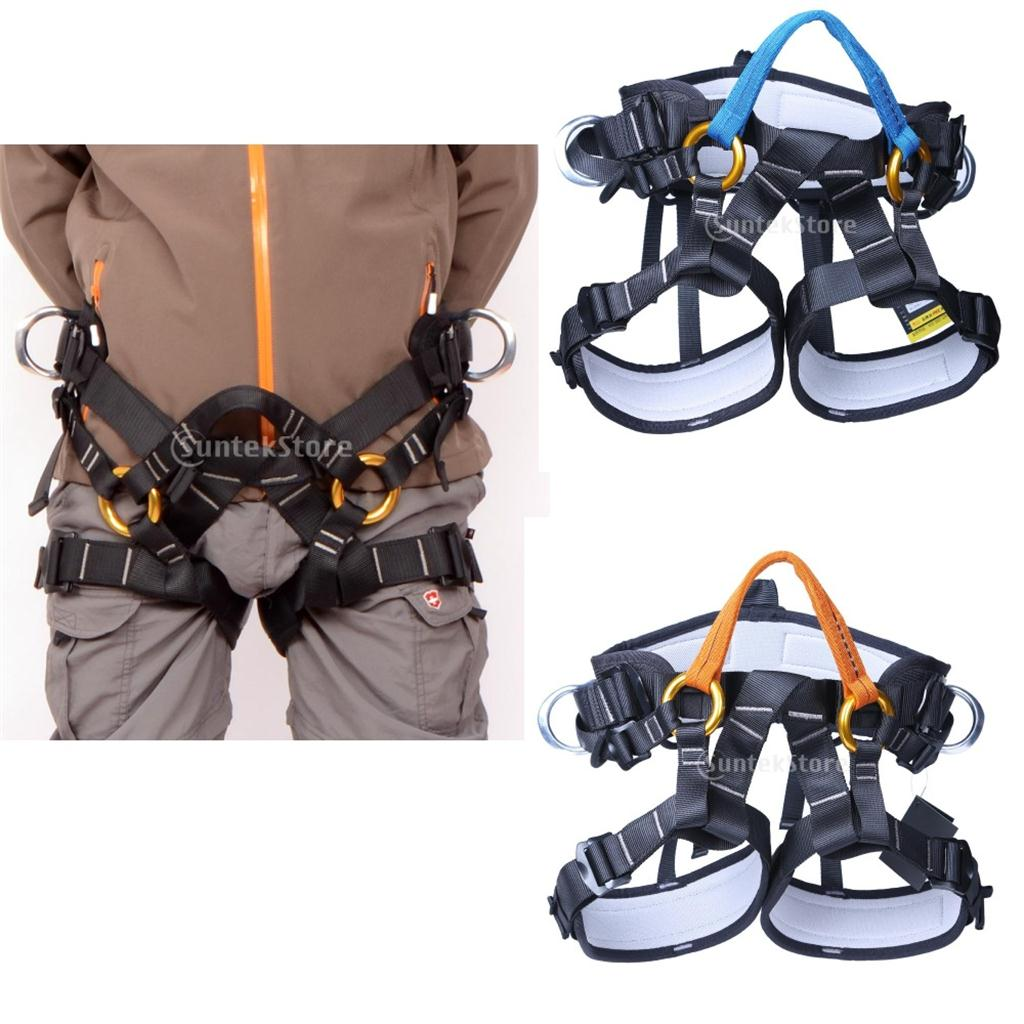 Tree Climbing Safety Harness Sitting Seat Bust Belt Rappelling Rescue Gear Equip For Tree Caving Firefighting Engineering
